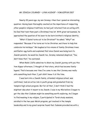 LYNN ASINOF - Temple Isaiah Home Page