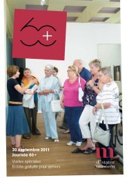 30 septembre 2011 Journée 60+ Visites spéciales Entrée gratuite ...