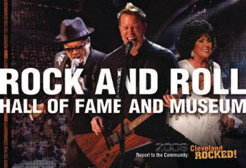 Report to the Community: - The Rock and Roll Hall of Fame and ...