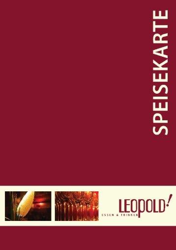 Unsere Speisekarte als Download - Restaurant Leopold