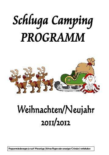 Weihnachtsprogramm 2011 - Schluga