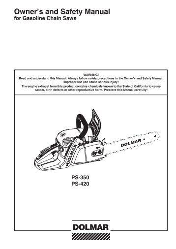 user manual petrol chain saws talon tools rh yumpu com Dolmar Dealers Dolmar Chainsaw Case
