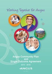 Angus Community Plan and Single Outcome Agreement 2013-2016