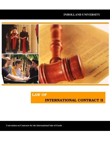 Law of Internatioanl Contract Part II.pdf - Yudhaccess Home Page