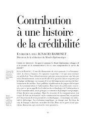 Contribution à une histoire de la crédibilité - Cahiers de médiologie