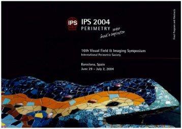 2004: Barcelona, Spain - Imaging and Perimetry Society