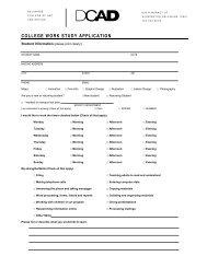 Enrollment Agreement Form - Delaware College of Art and Design
