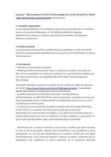 """Concurso """"Muchoviajeros en París""""con Muchoviaje.com a través de ..."""