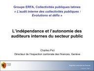 Indépendance et autonomie des auditeurs internes - SVIR