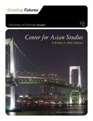 Center for Asian Studies - University of Colorado Foundation