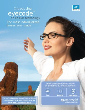 eyecode™ - Luzerne Optical Laboratories
