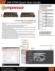 DW-CP04 Quick Start Guide - Digital Watchdog