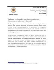 Quarterly Bulletin - March 2008 - Gauteng Provincial Treasury