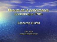 Mesure de la performance économique (PIB)