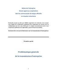 Problématique générale de la transmission d'entreprise - CoopZone