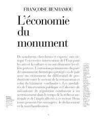 L'économie du monument