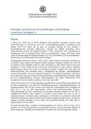 Delrapport 1 - Lärarutbildningsnämnden - Göteborgs universitet