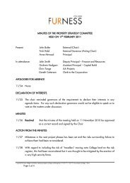 PROPERTY STRATEGY COMMITTEE Minutes of ... - Furness College