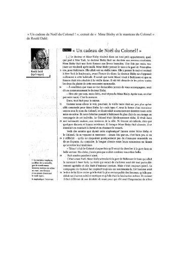 « Un cadeau de Noël du Colonel ! », extrait de ... - sioufi.sscc.edu.lb