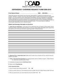 dependency override request form 2007-2008 - Delaware College ...