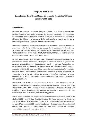 Chiapas Solidario - Secretaria de Hacienda