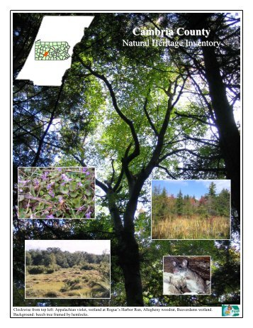 Cambria County - Pennsylvania Natural Heritage Program