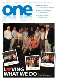 one magazine - Summer 2011 - Anglian Water