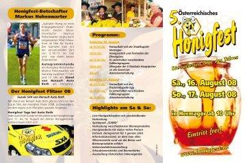 Eintritt frei! Die süßesten Tage des Jahres www.honigfest.at - Schluga