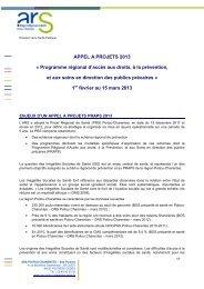 La note de cadrage - ARS Poitou-Charentes