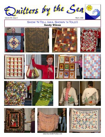 Show 'N Tell (aka, Shown 'n Told!) - Quilters by the Sea