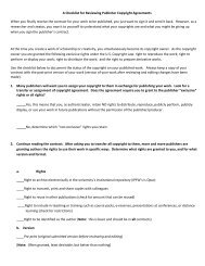 A Checklist for Reviewing Publisher Copyright Agreements - Opus ...