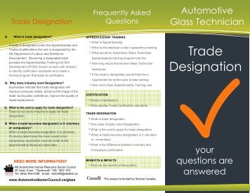 Frequently Asked Questions brochure - Automotive Human ...