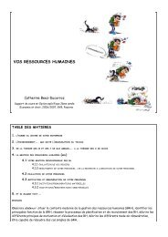 VOS RESSOURCES HUMAINES