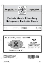 No. 288 - Gauteng Provincial Treasury