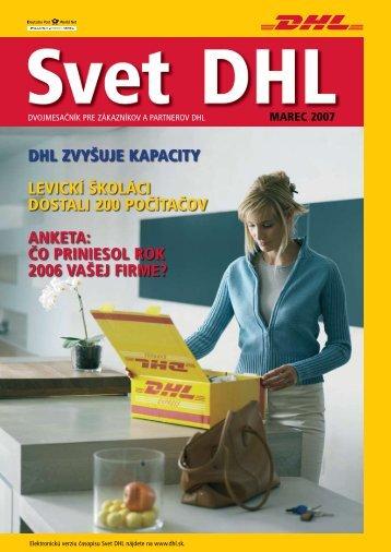 čo priniesol rok 2006 vašej firme? - DHL