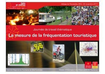 La mesure de la fréquentation touristique