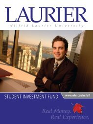 Real Money. Real Experience. - Wilfrid Laurier University