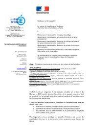 circulaire rectorale en date du 30 mars 2011. - Sites disciplinaires ...