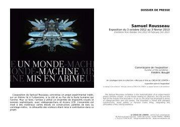 Samuel Rousseau - le Creux de l'enfer