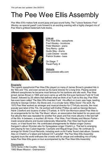 The Pee Wee Ellis Assembly - Nova Concerts International