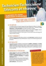 Télécoms et réseaux Technicien-Technicienne - Onisep