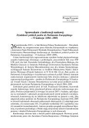 Sprawozdanie z konferencji naukowej: Działalność polskich posłów ...