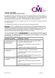 LEVEL 3 CERTIFICATE IN MANAGEMENT - Chartered ...