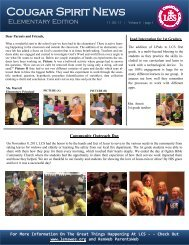 Cougar Spirit News - Lenawee Christian School