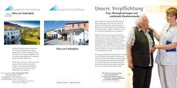 Haus am Lindenplatz Haus am Lindenplatz - Evangelische ...