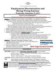 Employment Discrimination and Hiring/Firing ... - Cadaonline.org