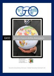Security Surveys & Risk Assessments - GEO-OPS