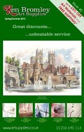 25% OFF - Ken Bromley Art Supplies