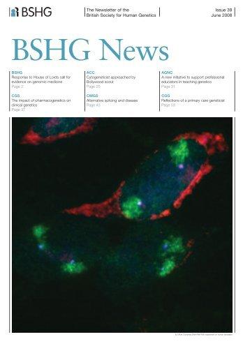 The Newsletter of the British Society for Human Genetics - EURASNET