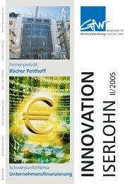 Innovation Iserlohn 02/2005 - Gesellschaft für Wirtschaftsförderung ...